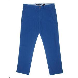 Tommy-Hilfiger-Pants-Khaki-Chino-Custom-Fit-Blue-Twill-W32-L30-NEW-Mens-Boys