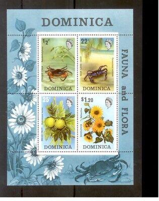 Vernuftig *a015 Dominica Sealife Flowers (mnh) Block Een Unieke Nationale Stijl Hebben