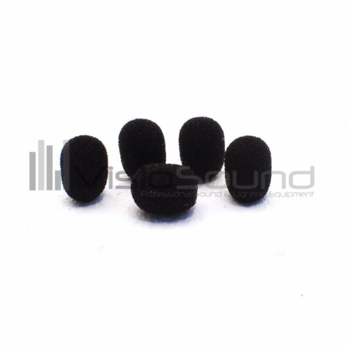 5 Pack VisioSound Foam Microphone Windshields for Headset//Earhook Microphones