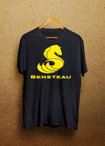 Beneteau French Sailboat Fishing Black//White T-Shirt Size S 3 XL dw2