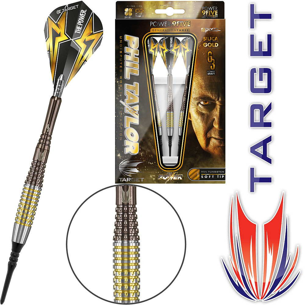 TARGET Soft Dart Pfeile Darts Phil Taylor The Power 9Five G3 Gen3 Gen-3 18 gr  | Schön geformt