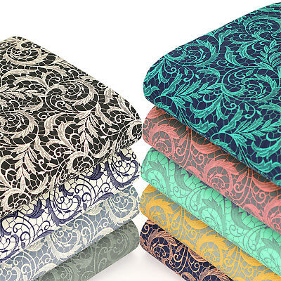 BLUE MULTI Fat Quarter 100/%Cotton Fabric FQ FLORAL PAISLEY Craft Sewing Material