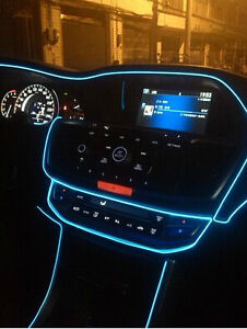 Crystal Blue 5 Meter Interior Refit Car Stlying EL wire light for ...