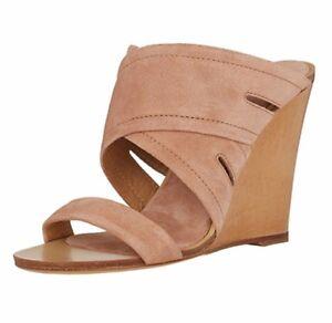 57b6dbf3e08 New Women Wedge Heel Mules Sandals Slippers Slip On Comfortable ...