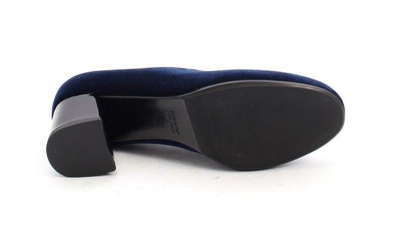 MOT-CLe MOT-CLe MOT-CLe 696a Navy Velour   Leather Round Toe Block Heel Pumps 39   US 9 ec47c0