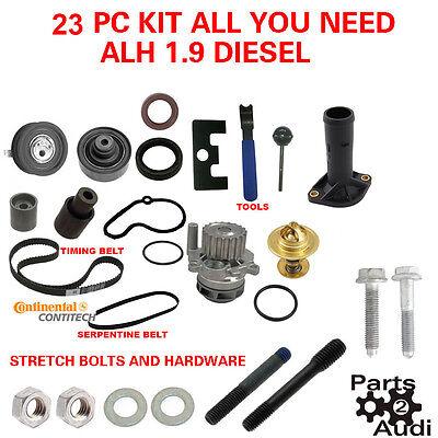 99.5-04 VW TDI ALH 100K Timing Belt Kit w//Water Pump 1.9L Diesel
