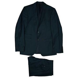 BENVENUTO purple Herren Anzug Sakko Blazer Jacke Hose Gr.46 dunkelblau TOP