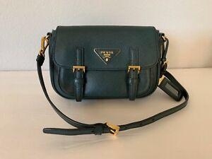 PRADA-Green-Smeraldo-Saffiano-Lux-Crossbody-Flap-Bag