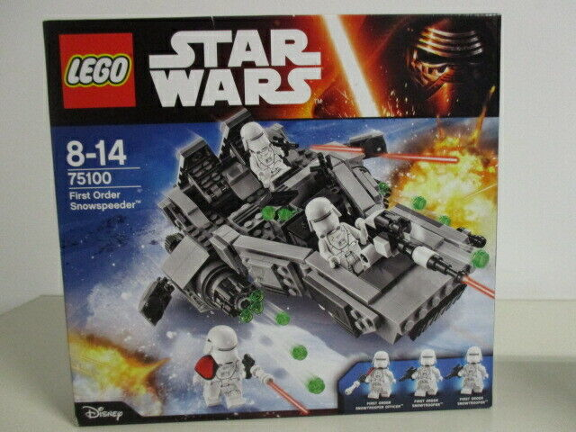 LEGO  estrella guerras 75100 FIRST ORDER SNOWSPEEDER  nuovo Nib Sealed with 3 minicifras  consegna diretta e rapida in fabbrica