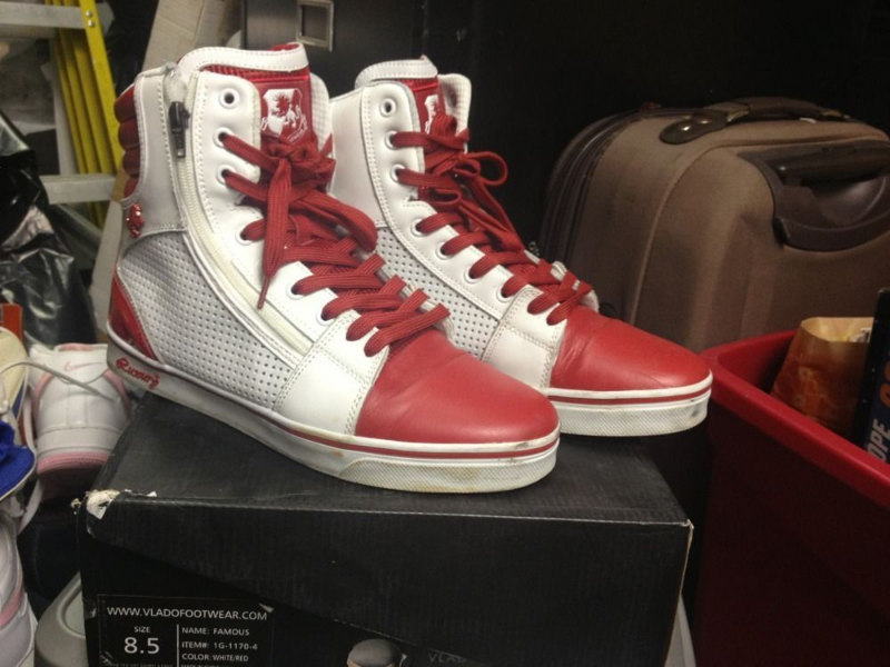 Vlado Famous Red White 1G-1170-4 Size 8.5