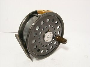 Vintage-Antique-Walker-Bampton-Dingley-3-1-2-034-Salmon-Fly-Fishing-Reel-Nice