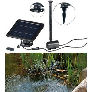 solarpumpe teich und springbrunnen pumpe mit 2 watt solarpanel und akkubetrieb ebay. Black Bedroom Furniture Sets. Home Design Ideas