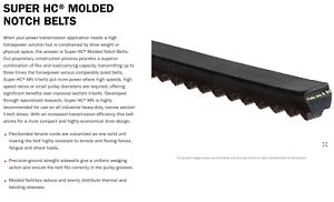 GATES Super HC Molded Notch V-Belt and SUPER HC V-Belts
