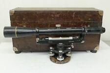 Vintage Transit Surveyors Ths In Wooden Box Long Black