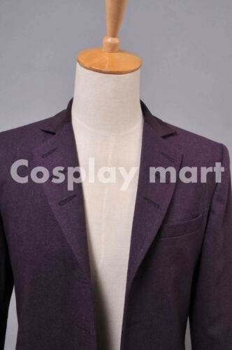 Doctor Who Eleventh  Dr Purple Wool Frock Coat Costume  /<Custom Made/>