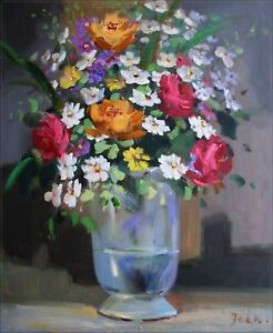 Quality-Hand-Painted-Oil-Painting-Floral-Still-Life-20x24in