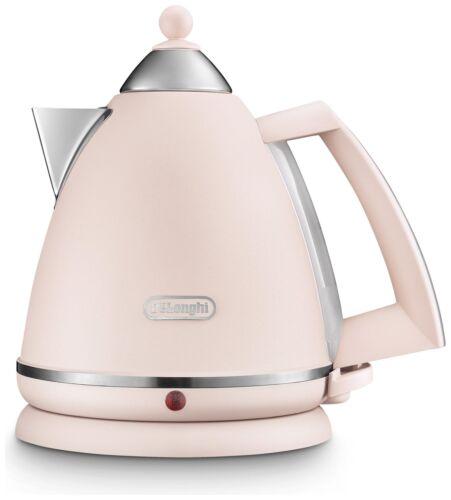DE /'Longhi KBX3016.PK ARGENTO FLORA BOLLITORE-ROSE bollire l/'acqua Cucina Caffè UK