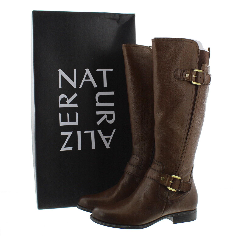 Naturalizer Mujeres Jean anchos N5 Cuero Suave botas De Montar 7.5W