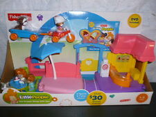 Fisher Price Little People 2014 Ice Cream Shop Gift Set trike dvd new