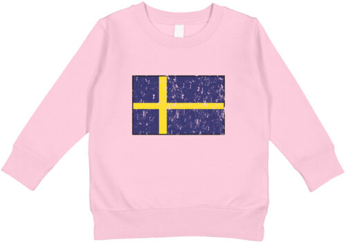 Details about  /Sweden Country Pride Game Day Soccer Blue and Yellow Football Toddler Sweatshirt