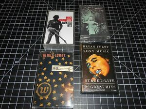 4-Classic-Rock-Music-Vintage-Cassette-Audio-Tapes-By-Various-Artists