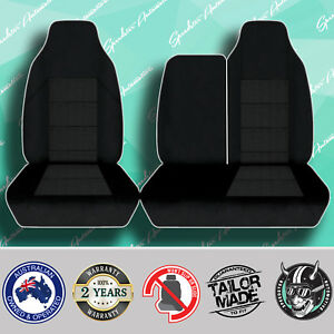 FOR-KIA-K2700-2004-05-BLACK-HIGH-QUALITY-JACQUARD-3-4-BENCH-TRUCK-SEAT-COVER