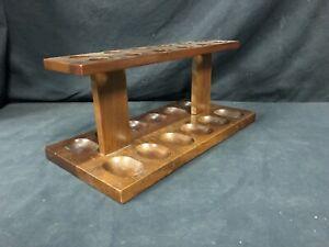 Articoli per fumatori porta pippe vintage da 12 in legno 29cm x 13cm