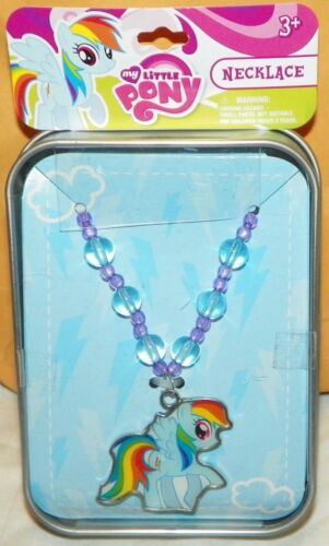 """NEW"" Hasbro MY LITTLE PONY Dash DOGTAG Dog Tag NECKLACE & Collector Tin"