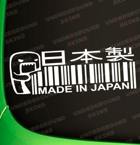 MADE IN JAPAN DOMO KUN FUNNY JDM DRIFT CAR DECAL LAPTOP STICKER