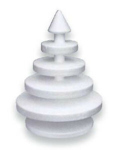 Albero Di Natale Stilizzato.Albero Di Natale Stilizzato A Piani Di Polistirolo Ebay