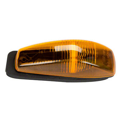 Grote 46813 Yellow Small Aerodynamic Cab Marker Light without Chrome Bezel
