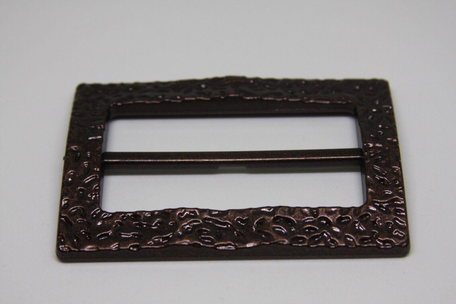 Woman`s bronze color, plastic, Italy, belt buckle