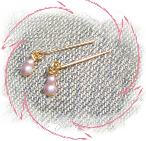 Plantation Belle Jewelry Earrings PINK pearls Made for Vintage Barbie Dolls #966