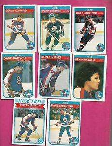 1982-83-OPC-WINNIPEG-JETS-CARD-LOT-INV-C3528