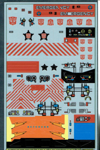 STICKERS G1 AUTOBOT PROTECTOBOTS REPRO LABELS TRANSFORMERS GENERATION 1
