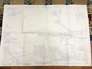 1916-Antique-Map-of-Surrey-Wanborough-Monkgrove-Flexford-House-Puttenham-Heath