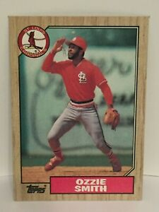 Details About 1987 Topps Ozzie Smith Baseball Card St Louis Cardinals Nrmt Mint 749 Hof Mlb
