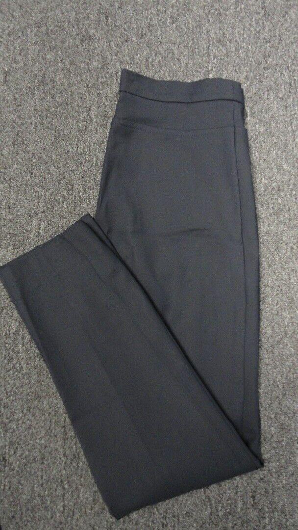 AKRIS PUNTO Navy Blau Straight Leg Flat Front Solid Casual Pants Sz 6 FF9929