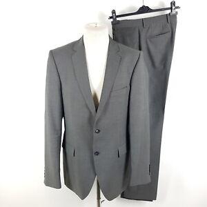 Strellson-Anzug-Bailey-Manhattan-Herren-Gr-98-50-Lang-Grau-Super-100-Wolle