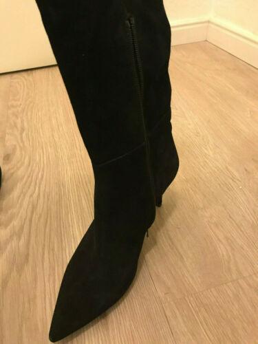Schwarze Overknee-Stiefel Unisa, Spanien, Größe 38, Wildleder