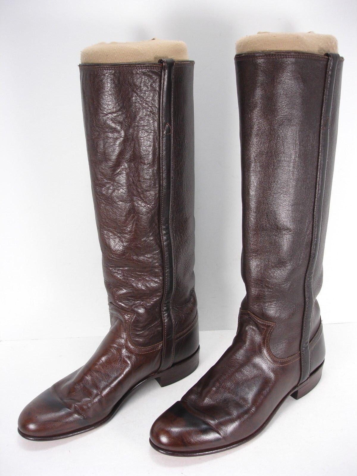 Justin L3737 marrón marrón marrón jaspeado botas de vaquero occidental de cuero Roper de alto para mujer 6 B  bienvenido a comprar