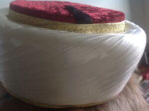 Moslem Imam FES Fez Red w Tassel HAT Luxury Islam Style from