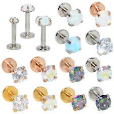 1x Lip Stud Earring Skeleton Hand Ear Cuff Piercing Ring Bar Halloween Jewelry