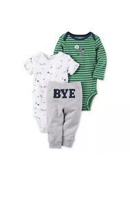 7d4119d36 NWT Carters Baby Boy Clothes New Born 3 Piece Pants Outfit Set | eBay