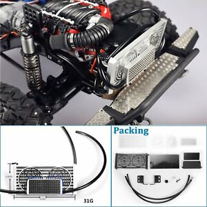 Water-Tank-Cooling-Radiator-Box-Car-Parts-for-1-10-Traxxas-TRX4-JEEP-V8-LS3-RC