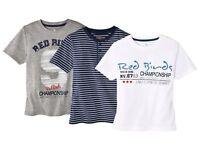 (R37) Jungen Schlafshirt Jungen T-Shirts Kurzarm Rundhals