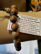 Prayer Beads  Green SandleWood Wrist Mala - Kaun Yin - 10mm. #41006
