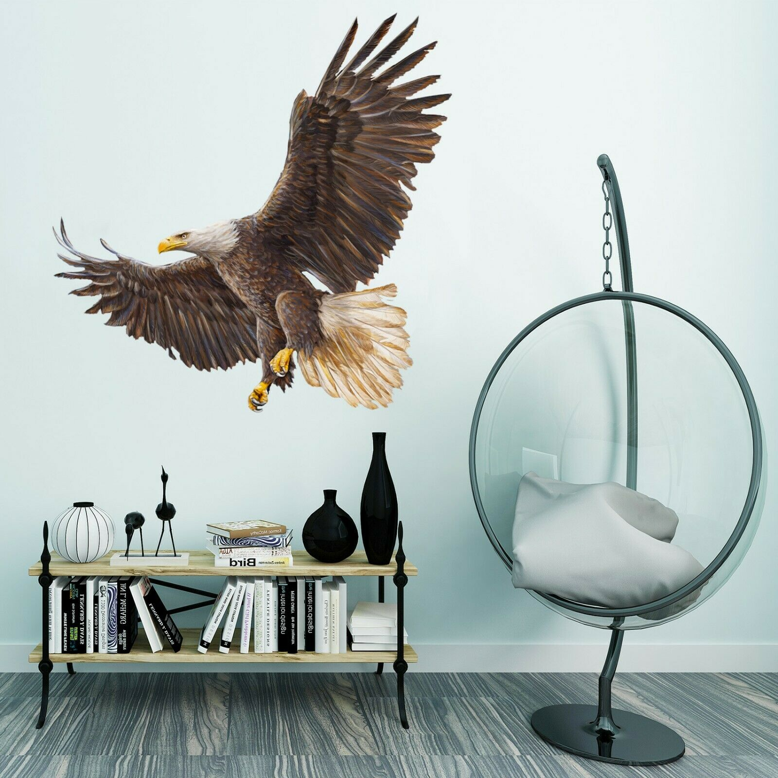 3D Flying Eagle G034 Animal Wallpaper Mural Poster Wall Stickers Decal Wendy