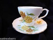 Duchess made in England Yellow Flowers Fine Bone China Tea Cup & Saucer set