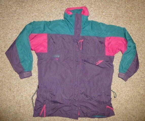 Vtg COLUMBIA Purple / Pink Winter SKI JACKET Manteau Taille LARGE Cute Warm